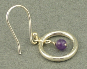 Ring Me Up amethyst earrings
