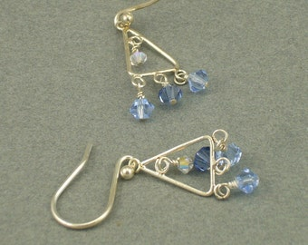 Blue Sky chandelier earrings