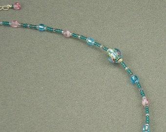Primrose Garden glass necklace