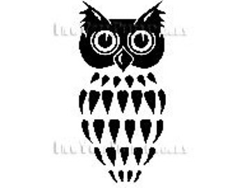 Owl Cross Stitch, Owl Silhouette, Cross Stitch Pattern, Owl Pattern, Owls, Cross Stitch Owls, Cross Stitch Animals by NewYorkNeedleworks