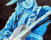 Stevie Ray Vaughn Original Painting Reproduction 11x14 Poster Print Rock n Roll
