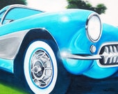 24x36 Personalized Custom Car Transportation Painting Artwork any style.   Canvas with Acrylics.