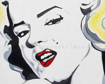 Marilyn Monroe Pop Art Poster Reproduction 11x14 Print Original Artwork From Oil Painting
