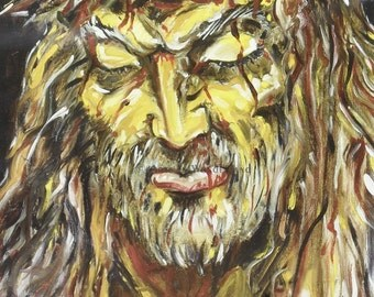 Jesus Spiritual God Higher Power Love 11x14 Painting Print By Joe Palotas