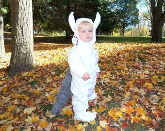 Max Wolf Suit - Custom Made Costumes, Infant Costume, Toddler Costume, Where the Wild Things Are Wolf Suit