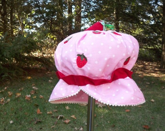 Strawberry Shortcake Girls Costume Hat