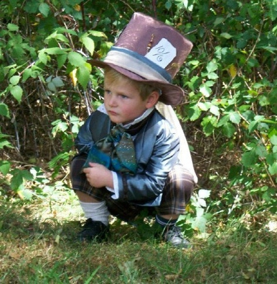 Boys Vintage Style Mad Hatter Costume - READY TO SHIP - Size 4T