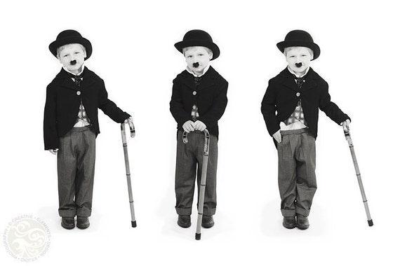 Child Charlie Chaplin Costume - Custom Made Kids Costumes, Movie Icon Costumes, Boys Costume, Made to fit Costumes, Kids Charlie Chaplin