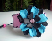 Leather Look WRIST CUFF bracelet for teens/tweens - the new HOLLYWOOD craze