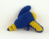 Crochet Raygun in Blue and Yellow - Baby's First Raygun