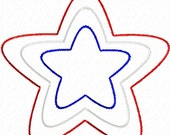 Digitizing Dolls Raggy Edge Star 2 Applique Machine Embroidery Design 2x2 3x3 4x4 5x5 INSTANT DOWNLOAD