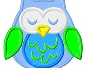 Digitizing Dolls Owl 2 Applique Embroidery Design 4x4 5x7 Fall Euro INSTANT DOWNLOAD