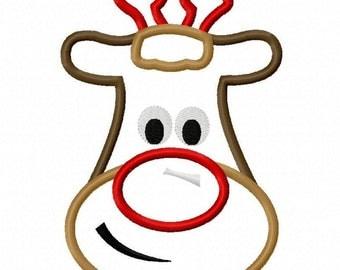 Digitizing Dolls Christmas Rudolph Reindeer Machine Embroidery Applique Design 4x4 5x7 INSTANT DOWNLOAD