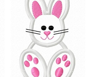 Digitizing Dolls Easter Bunny Applique Machine Embroidery Design 4x4 5x7 INSTANT DOWNLOAD