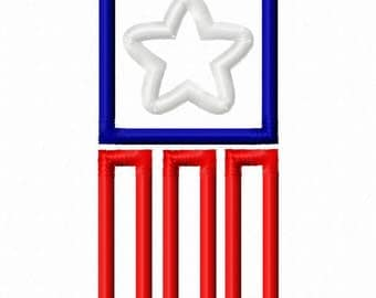 Digitizing Dolls Flag Star 2 Applique Machine Embroidery Design 4x4 5x7 Independence Day 4th of July Patriotic INSTANT DOWNLOAD
