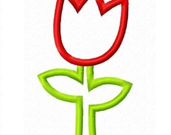 Digitizing Dolls Sweet Flower 2 Applique Machine Embroidery Design 4x4 5x7 Tulip INSTANT DOWNLOAD