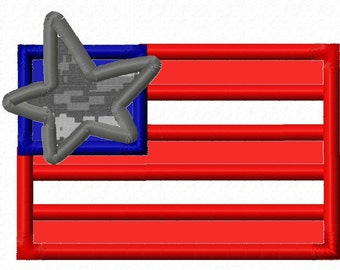 Digitizing Dolls Flag Star Applique Machine Embroidery Design 4x4 5x7 Independence Day 4th of July Patriotic INSTANT DOWNLOAD