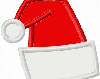 Digitizing Dolls Christmas Santa Hat Applique Machine Embroidery Design 4x4 5x7 6x10 INSTANT DOWNLOAD