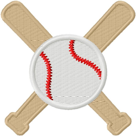 Digitizing Dolls Baseball and Bats Solid Fill Machine Embroidery Design 2x2 3x3 4x4 Sports Softball INSTANT DOWNLOAD