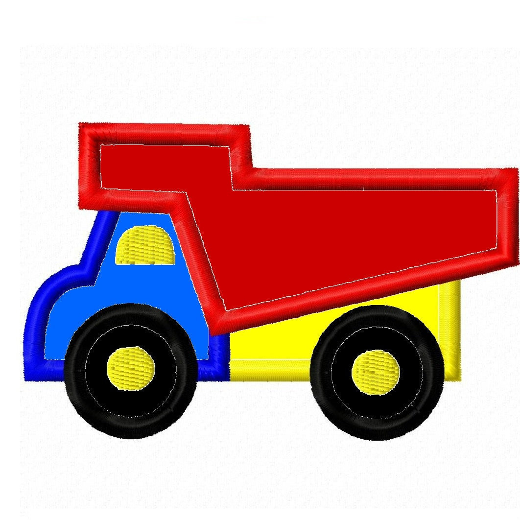 Digitizing dolls dump truck applique embroidery by