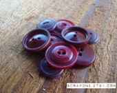 Vintage Maroon Buttons
