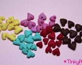 1/12 scale Tiny hearts 50 pcs for nail art/cupcakes/deco-den/cakes/scrapbooking/fake sweets