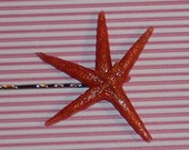 Dancing Starfish Pink Sparkle Bobby Pin Barrette