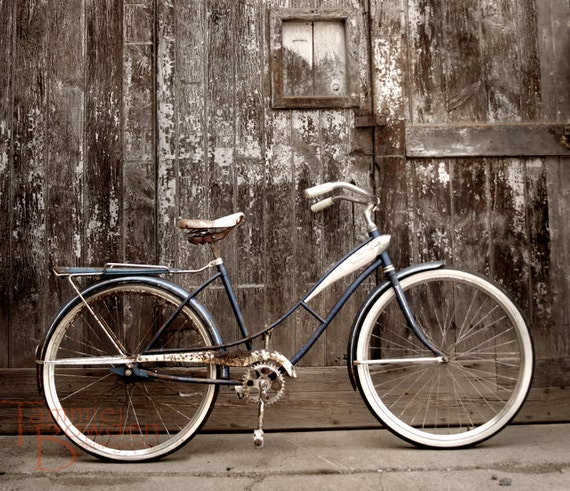 Bicycle - Original Photograph 8x10 - Rustic Distressed Decor Shabby Chic Cottage Home Bike