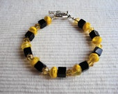 Luv Ya Black and Gold Bracelet