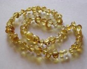 Lemon Baltic Amber Teething Necklace