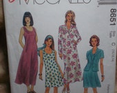 Women's A-LIne Sleeveless Dress and Spring Jacket Pattern,  McCall's Pattern, Unused, Sizes 10, 12, 14