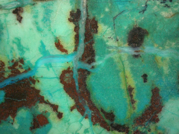 Slab of Rough Turquoise and Chrysocolla, Old Rock Hounds Estate Find, Jewelry Making, Cabochons