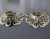 Vintage Silver Plate Hinged Loopy Earrings