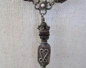 SALE:  Vintage Sterling Amethyst Y Necklace