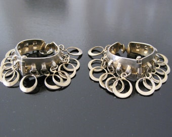 Vintage Silver Plate Hinged Loopy Earrings