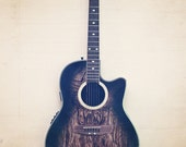 """Guitar Photography -  Instrument Music Photo - Vintage Inspired and Dreamy  - """"Play On"""""""