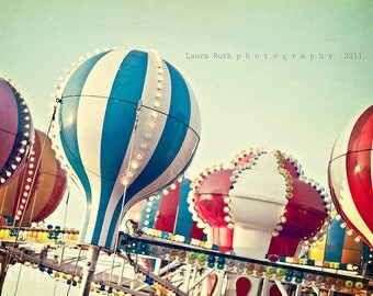 """Carnival Photograph- Fair Rides - Colorful - Baby Nursery - Home Decor - Fine Art Photography - 11x14 - """"Sounds of Summer"""""""