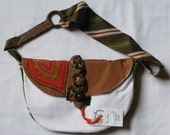Harvest Hues Purse, Red, Orange, Green and Brown - One of a Kind, Handmade, Vintage Fabrics