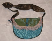 Blue My Mind, Tickled Pink Purse - One of a Kind, Handmade, Vintage Fabrics