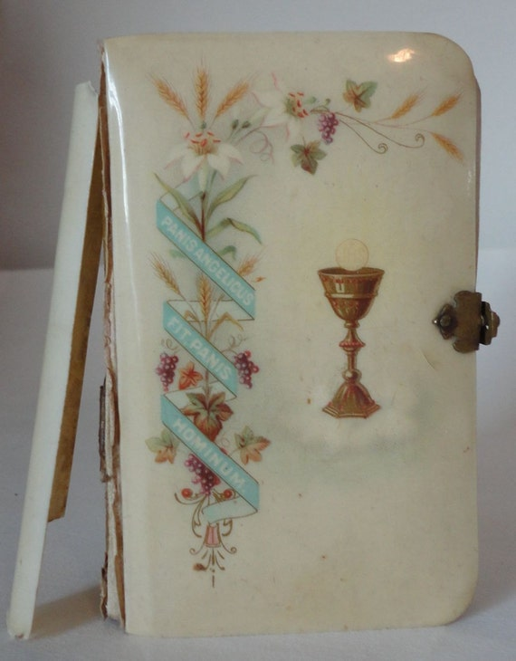 Repair Old Book Cover ~ Antique childs prayer book german celluloid by ustabeetwo