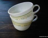 Pyrex Summer Impressions Sunshine pattern Coffee Mugs, Pair