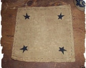 Primitive Star Corner Country Candle Mat Rug