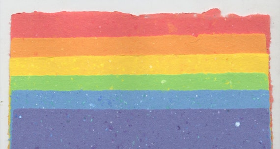 6 Sheet Handmade Paper Confetti Colour Variety