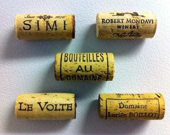 Upcycled Wine Cork Magnets (Set of 5)