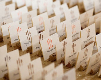 Upcycled Wine Cork Place Card Holders - Set of 100