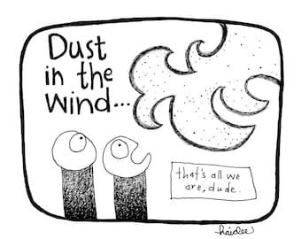 FingerPrick: Dust in the Wind - Pen & Ink Illustration