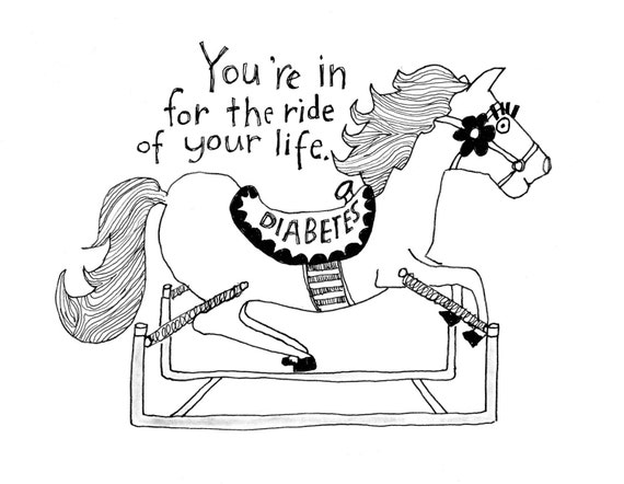 You're in for the Ride of Your Life - Pen & Ink Illustration