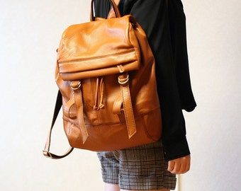 Supple Leather Backpack - Tan Brown