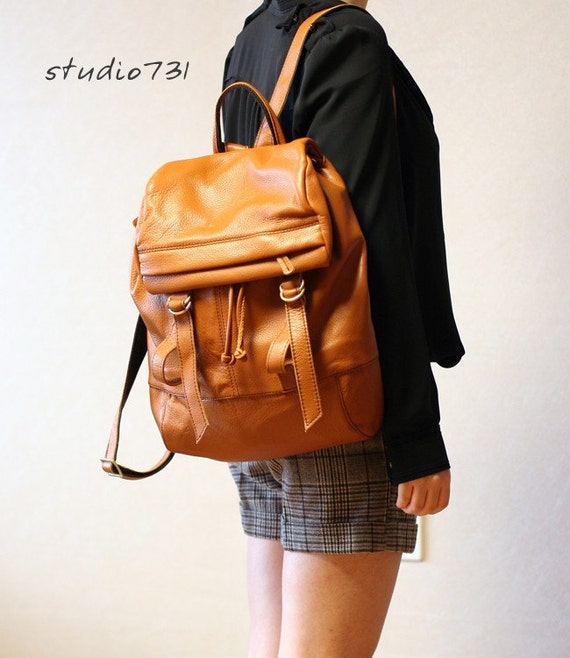 Supple Leather Backpack Tan Brown