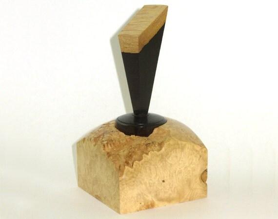 Natural Box Elder Burl Box With AfricanBlackwood Lid
